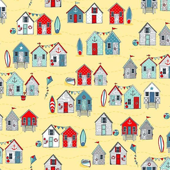 Sea Breeze Beach Huts Yellow Coastal Nautical Seagull Beachhut Beach Hut Su