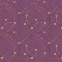 City Nights Underground Copper Maroon Geometric Metallic Rose Gold Purple Map Lines Abstract Cotton Fabric