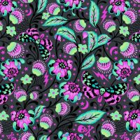 Venus in Spirit Tula Pink De La Luna Skull Botanical Floral Butterfly Cotton Fabric