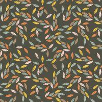 Ravishing Rayons Autumn Leaves Leaf Brown Viscose Rayon Challis Fabric 145cm