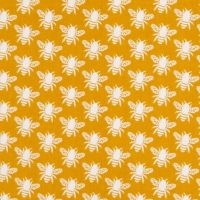 In The Meadow Honey Bee Gold Yellow Bees Cotton Fabric