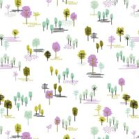 Outerland Willowood Daylight Tiny Trees Erin McMorris Tree Scenic Cotton Fabric