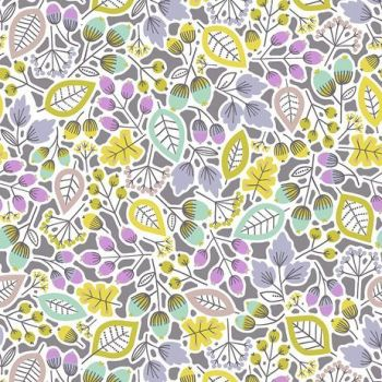 Outerland Forage Dusk Floral Leaves Botanical Leaf Berry Erin McMorris Cotton Fabric