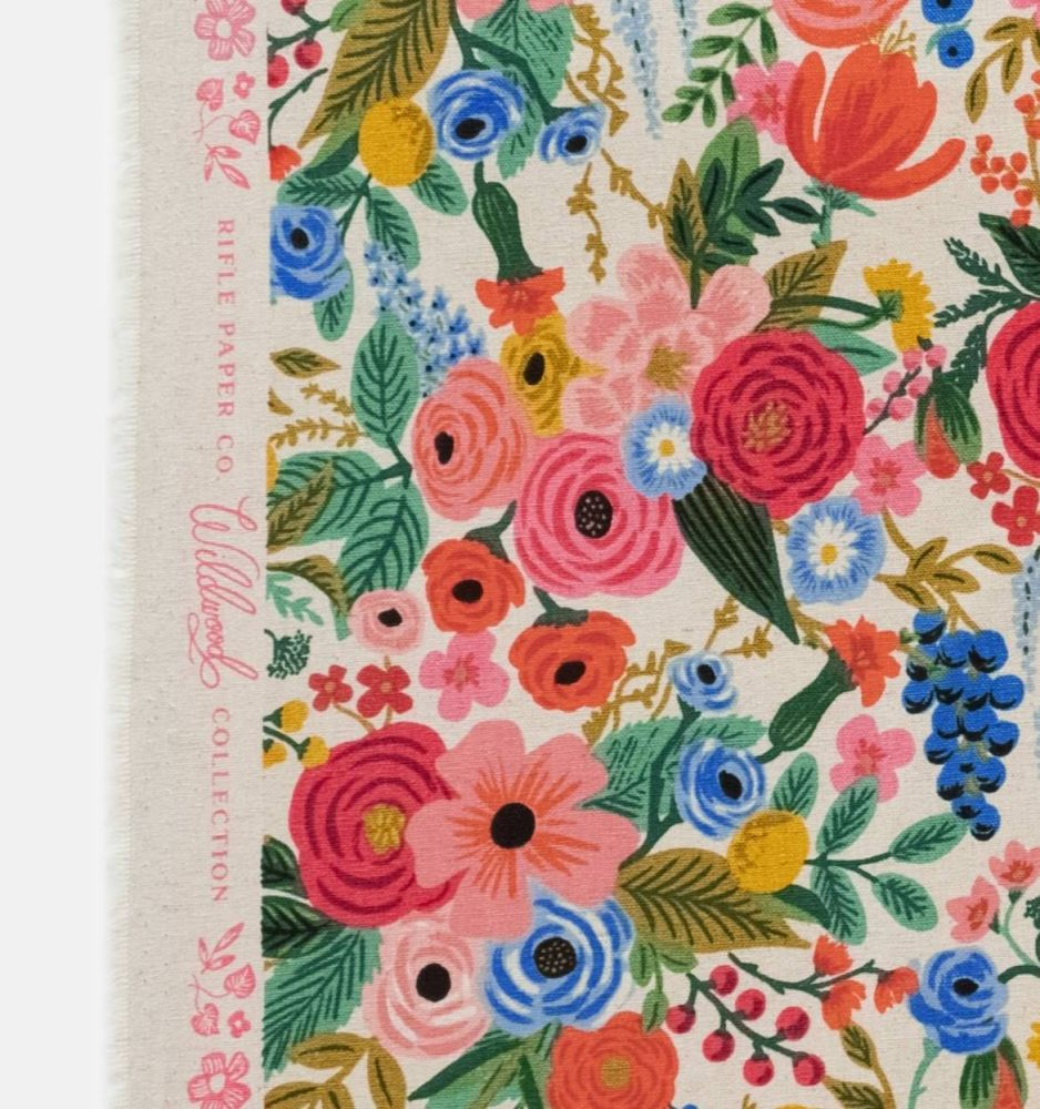 Rifle Paper Co. Wildwood Garden Party Pink Rose Floral Botanical Cotton Lin
