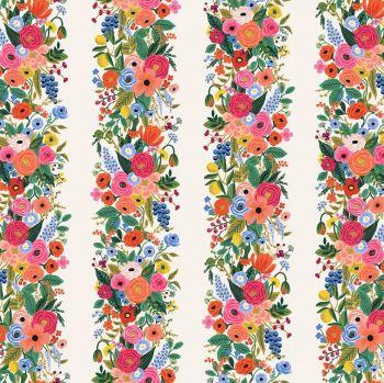Rifle Paper Co. Wildwood Garden Party Vines Cream Floral Stripe Botanical Stripes Cotton Fabric