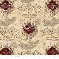 Harry Potter Marauders Map Hogwarts Camelot Deluxe Cotton Fabric