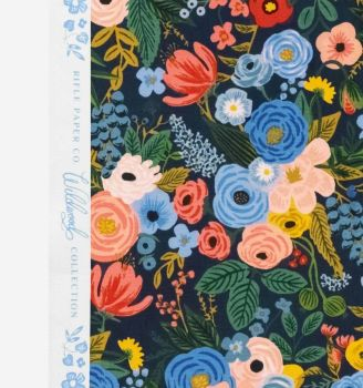 Rifle Paper Co. Wildwood Garden Party Navy Rose Floral Botanical Cotton Fabric