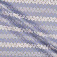Let's Be Mermaids Scallops Periwinkle Sparkle Metallic Gold Ombre Scales Mermaid Scale Cotton Fabric
