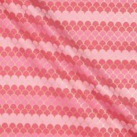 Let's Be Mermaids Scallops Pink Sparkle Metallic Gold Ombre Scales Mermaid Scale Cotton Fabric