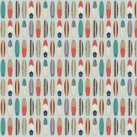 Offshore 2 Surfboard Blue Surfboards Surfing Surf Board Aqua Cotton Fabric
