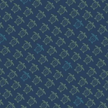 Offshore 2 Turtle Navy Sea Turtles Cotton Fabric