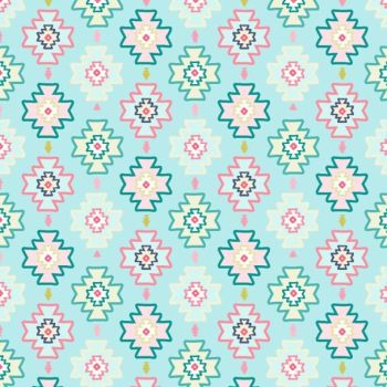 DESTASH 1.45m Llamaste Desert Pattern Multi Kilim Ikat Geometric Dear Stella Cotton Fabric