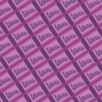 Willy Wonka and the Chocolate Factory Wonka Bar Purple Chocolate Cotton Fabric