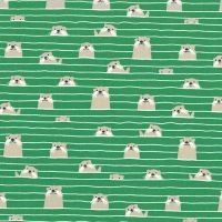 Acadia Marine Otter Assembly Sea Otters Green Ocean Cotton Fabric