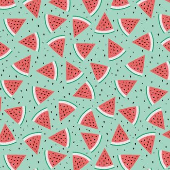 Summerlicious Watermelon Melon Slices Summer Fruit Tropical Cotton Fabric