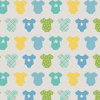 Sweet Baby Boy Onesies Gray Nursery Baby Shower Romper Cotton Fabric