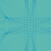 Redux Interconnection Nonno Turquoise Blue Linear Geometric Lines Blender Giucy Giuce Cotton Fabric