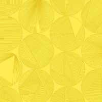 Redux Petri Canary Yellow Circles Linear Geometric Lines Blender Giucy Giuce Cotton Fabric