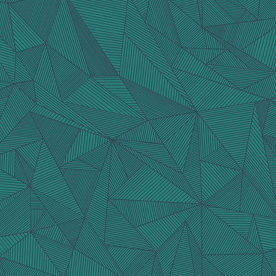 Redux Terra Galapagos Teal Linear Geometric Lines Blender Giucy Giuce Cotto