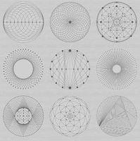 Redux Shark Skin Grey Circles Linear Geometric Lines Blender Giucy Giuce Panel Cotton Fabric