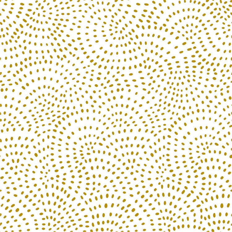 Twist Metallic Gold on White Texture Spotty Polkadot Dotty Cotton Fabric