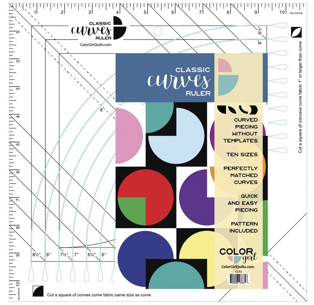 PRE-ORDER Color Girl Quilts Classic Curves Ruler with Pattern Included