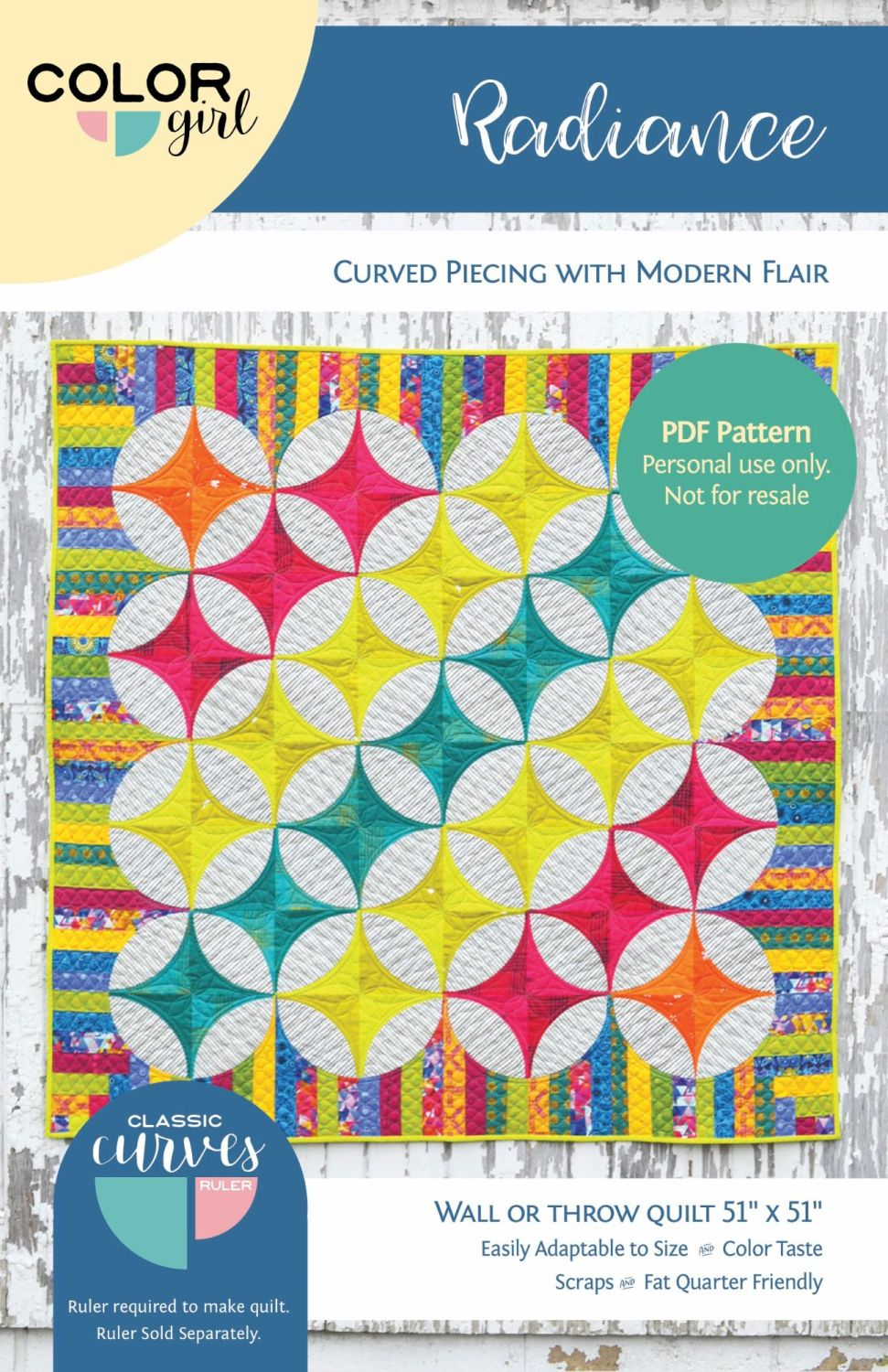 PRE-ORDER Color Girl Quilts Radiance Quilt Pattern