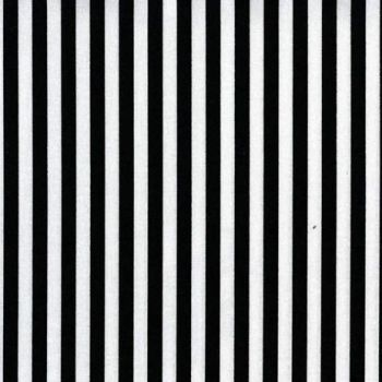 Clown Stripe Black and White Monochrome Tent Stripes Quilt Binding Geometric Blender Cotton Fabric