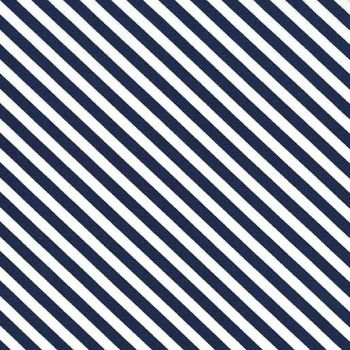 Sugar Stripe Midnite Navy Blue and White Monochrome Bias Stripes Quilt Binding Geometric Blender Cotton Fabric