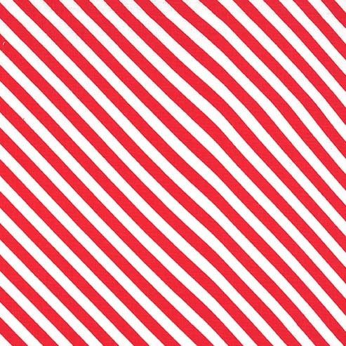 Sugar Stripe Peppermint Red and White Monochrome Bias Stripes Quilt Binding