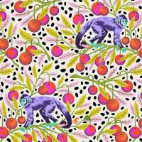 PRE-ORDER Tula Pink Monkey Wrench Mango Floral Monkeys Flower Botanical Cotton Fabric