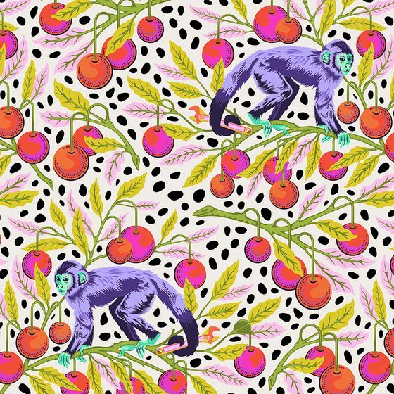 PRE-ORDER Tula Pink Monkey Wrench Mango Floral Monkeys Flower Botanical Cot