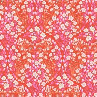 PRE-ORDER Tula Pink Monkey Wrench Parrot Prattle Mango Floral Flower Botanical Cotton Fabric