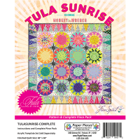 Tula Pink Sunrise Quilt Pattern & Complete EPP English Paper Piecing Paper Piece Pack