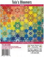 Tula Pink Tula's Bloomers Quilt Pattern & Complete EPP English Paper Piecing Paper Piece Pack