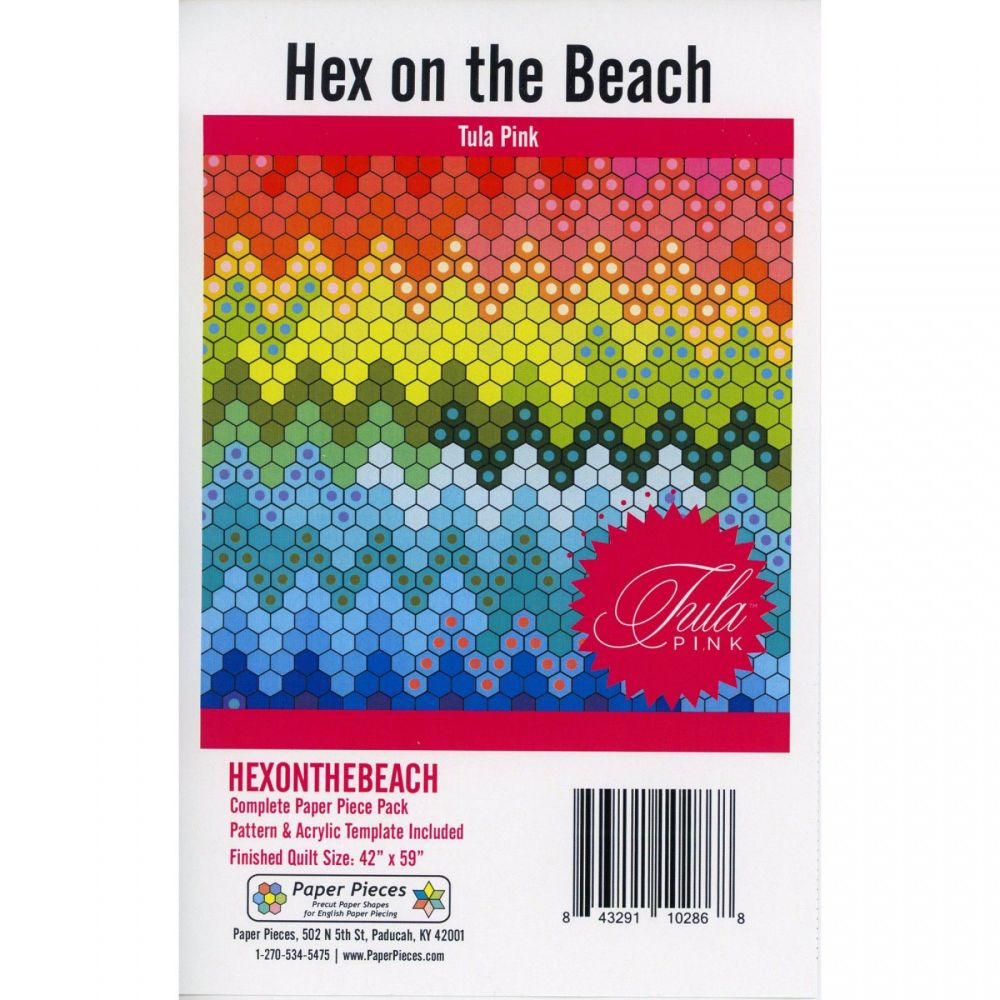 IN STOCK Tula Pink Hex on the Beach Quilt Pattern & Complete EPP English Pa
