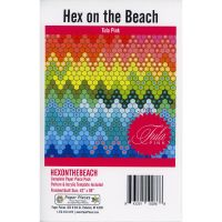 Tula Pink Hex on the Beach Quilt Pattern & Complete EPP English Paper Piecing Paper Piece Pack