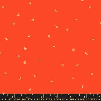 Spark Roadster Red Star Metallic Gold Ruby Star Society Melody Miller Cotton Fabric