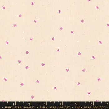 Spark Neon Pink Star Ruby Star Society Melody Miller Cotton Fabric