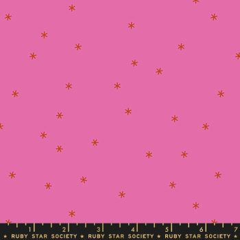 Spark Lipstick Pink Star Ruby Star Society Melody Miller Cotton Fabric