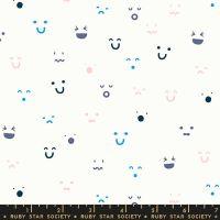 Anagram Kimoji Multi Smiley Face Ruby Star Society Kimberly Kight Cotton Fabric