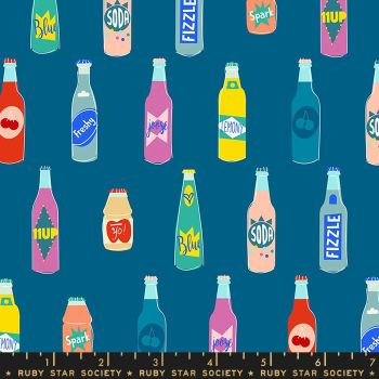 Pop Off Blue Raspberry Soda Bottle Ruby Star Society Rashida Coleman-Hale Cotton Fabric