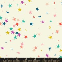 Pop Starfetti Cream Soda Stars Ruby Star Society Rashida Coleman-Hale Cotton Fabric