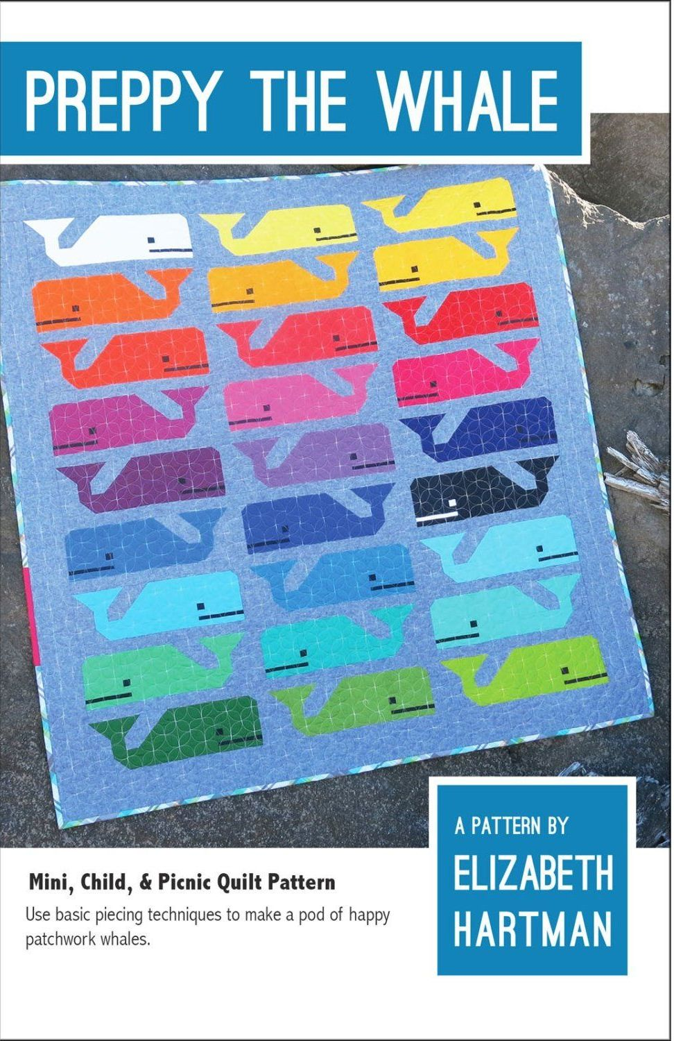 Elizabeth Hartman Preppy the Whale Quilt Pattern