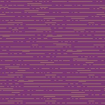 Greatest Hits Vol 1 Dashes Violet Purple Lines Gold Metallic Geometric Cotton Fabric