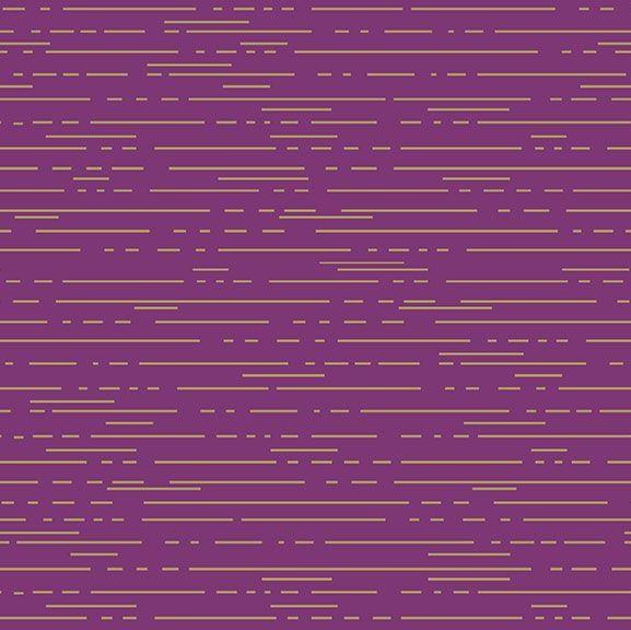 Greatest Hits Vol 1 Dashes Violet Purple Lines Gold Metallic Geometric Cott