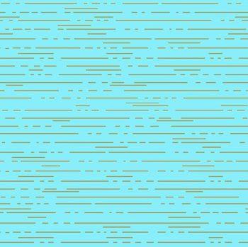 Greatest Hits Vol 1 Dashes Crisp Aqua Lines Gold Metallic Geometric Cotton Fabric
