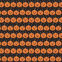 Fab-boo-lous Halloween Pumpkins Jack O' Lantern Pumpkin Black Spooky Cotton Fabric