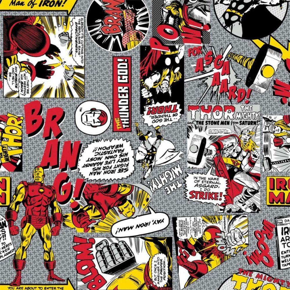 Marvel Comic Pop Power Iron Man VS Thor Superhero Comic Books Heroes Cotton