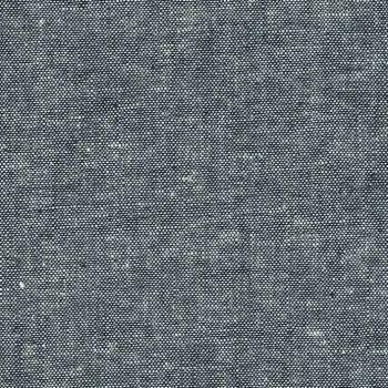 Essex Yarn Dyed Linen Indigo 1178 Blend Woven Shot Chambray Cotton Linen Fabric